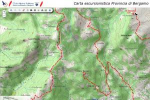 portale mappe CAI sez. Bergamo