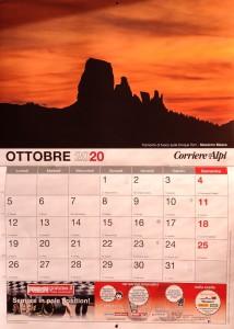 Corriere delle Alpi, Calendario 2020
