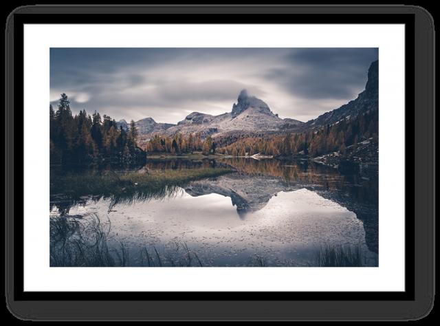 Stampa Fine Art Paesaggio Dolomiti Croda da Lago