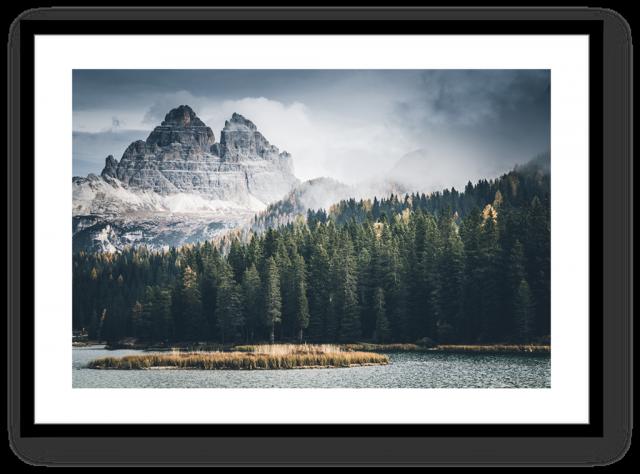 Stampa Fine Art Paesaggio Dolomiti Lago di Misurina