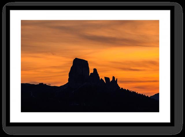 Stampa Fine Art Paesaggio Dolomiti Cinque Torri