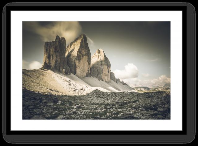 Stampa Fine Art Paesaggio Dolomiti Tre Cime di Lavaredo