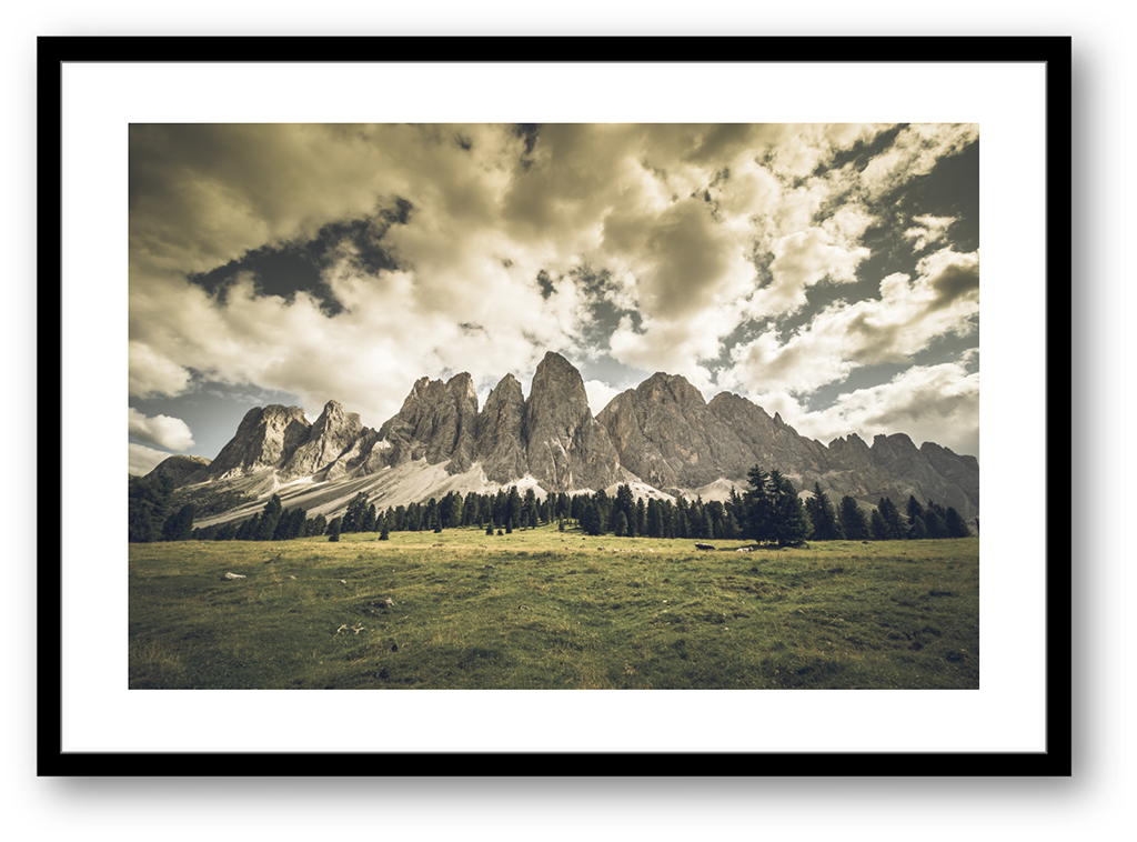 Stampe Fine Art Paesaggio Dolomiti Odle Val di Funes